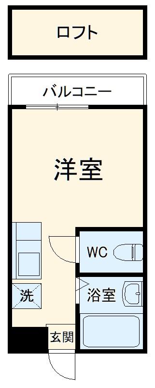ルート須玖・203号室の間取り