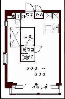 コリドールエスト・503号室の間取り