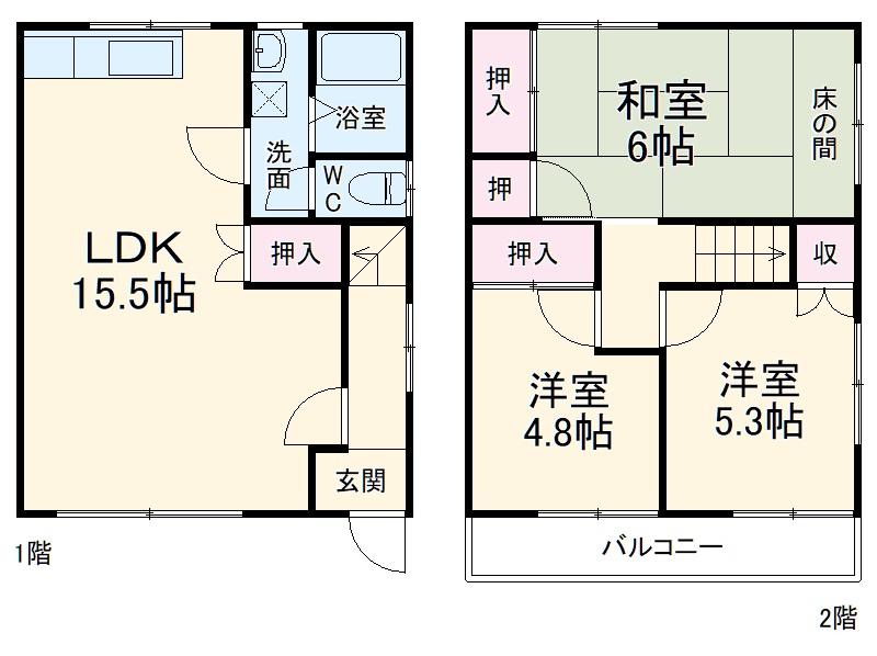 HAZAKURA108・B号室の間取り