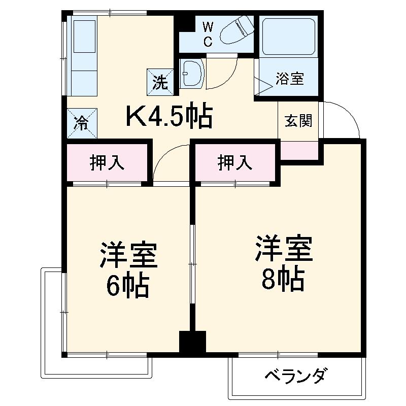 金沢マンション・302号室の間取り