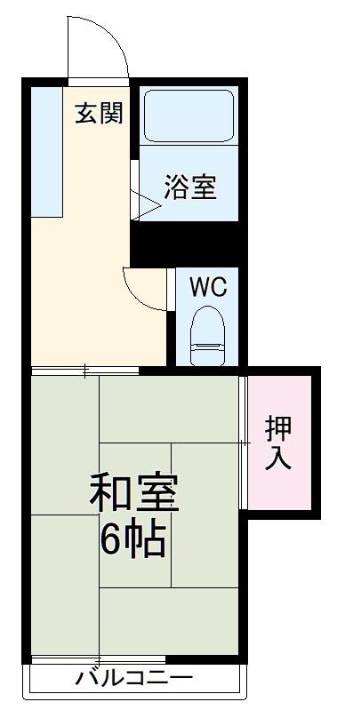 コーポ桜井・202号室の間取り
