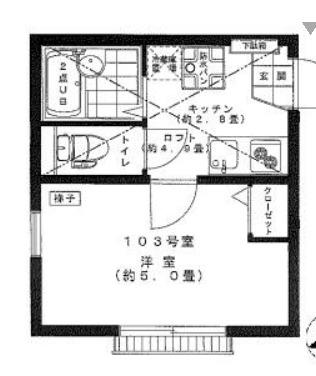 リーヴェルポート横浜保土ヶ谷Ⅱ・103号室の間取り