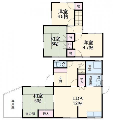 山田2丁目貸家・1号室の間取り