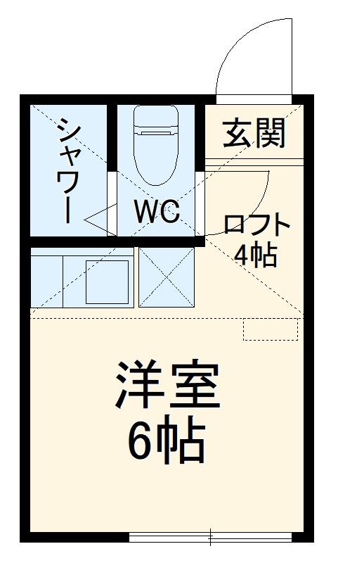 ユナイト南太田ジェラール・ピケ・201号室の間取り