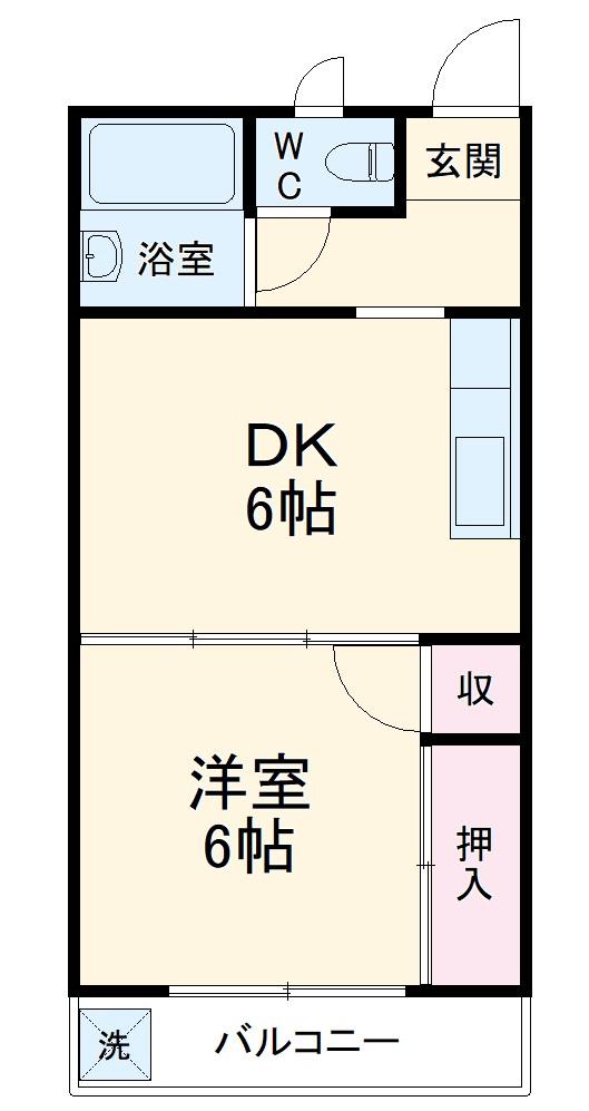 妙香寺台スカイマンション・102号室の間取り