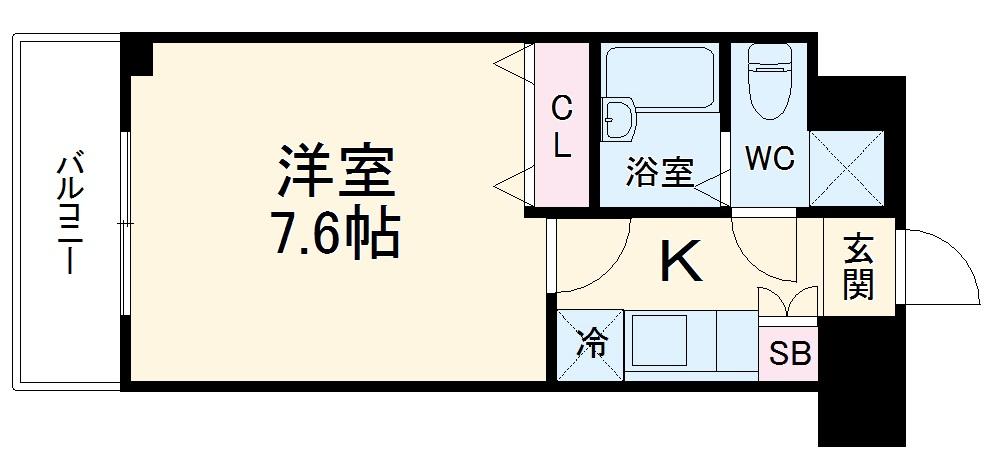 フェニックス横濱関内BAYMARKS 512号室の間取り