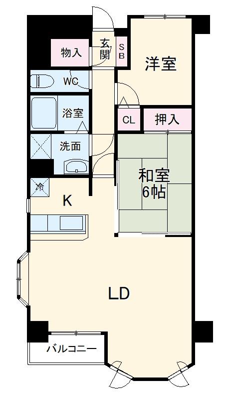 グランデ・ニューカースル銚子明神町 401号室間取り図