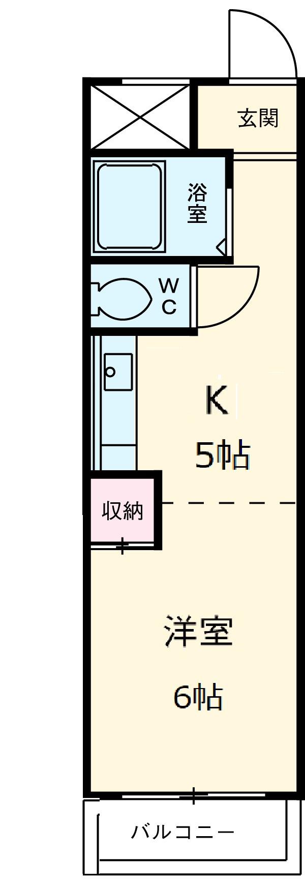 オーク斉藤・502号室の間取り