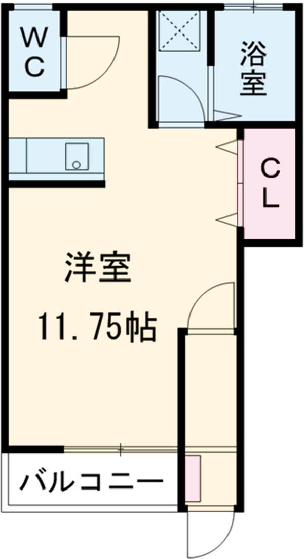 エールハウス 103号室の間取り