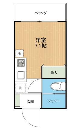 Hana House-Ona 302号室の間取り