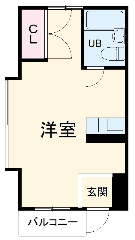 五月フレックスマンション・205号室の間取り