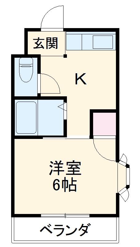 津之江パークハイツ2号館・307号室の間取り