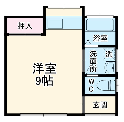 シャレル八斗島K・25号室の間取り