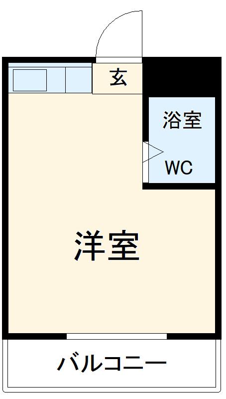 第1竹村コーポ・302号室の間取り