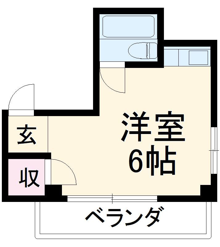 野田ヒューマンハイツ・303号室の間取り