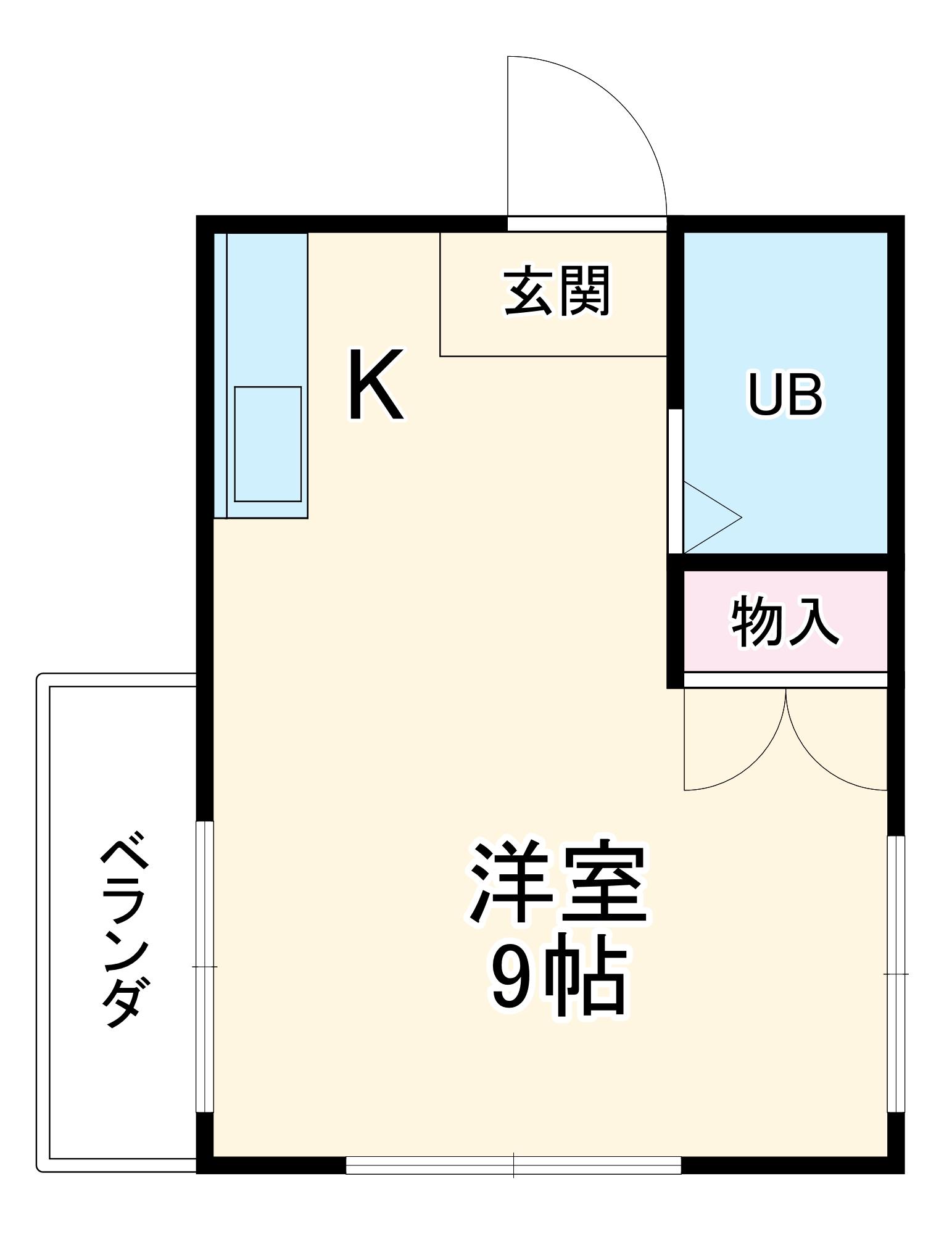レジデンス津田・206号室の間取り