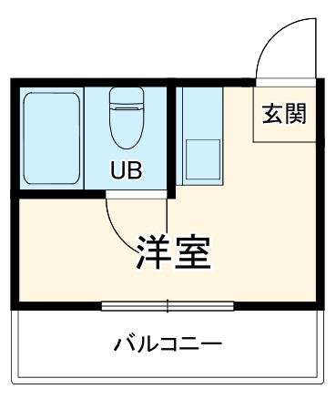 江曽島マンション・205号室の間取り