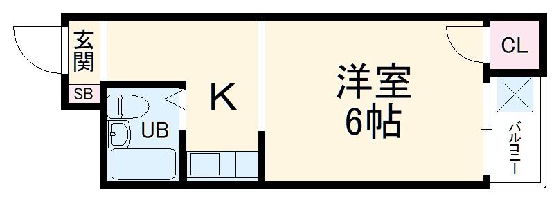 安岡寺エンビィハイツ・311号室の間取り