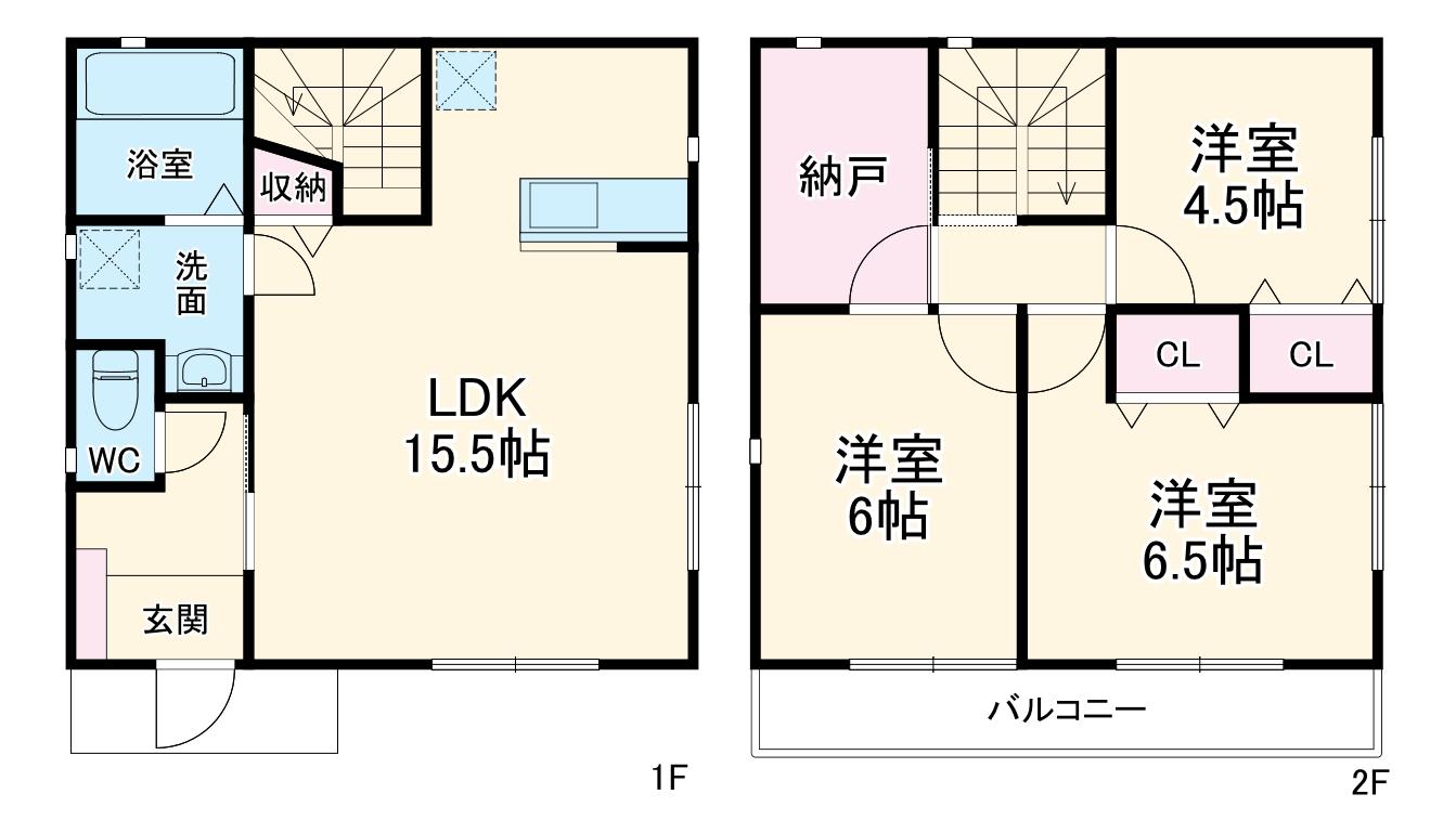 大貫住宅A棟・1号室の間取り