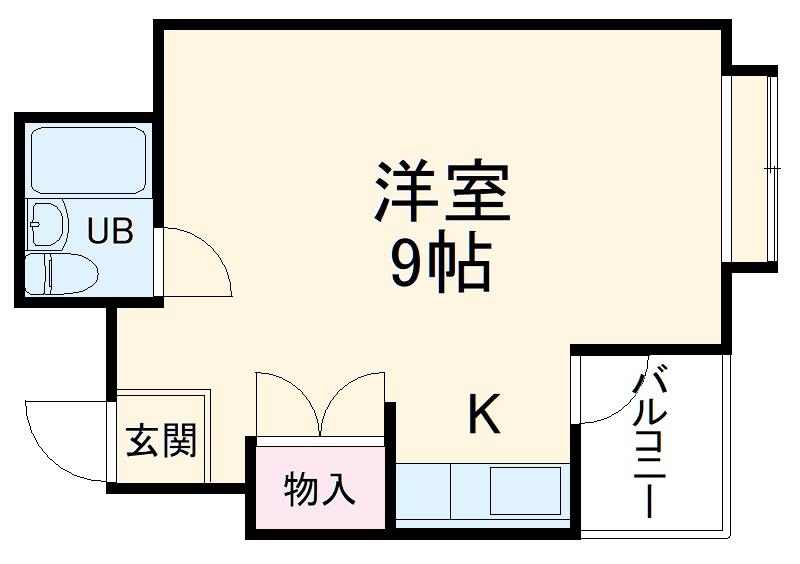 ニューライン中桜塚 305号室の間取り