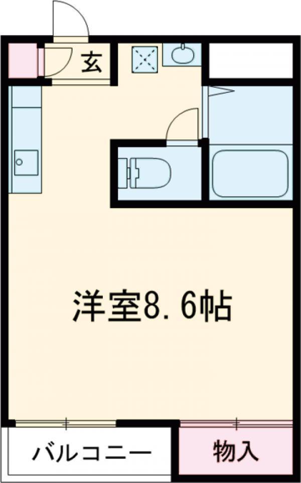 エクセレント吉野・103号室の間取り