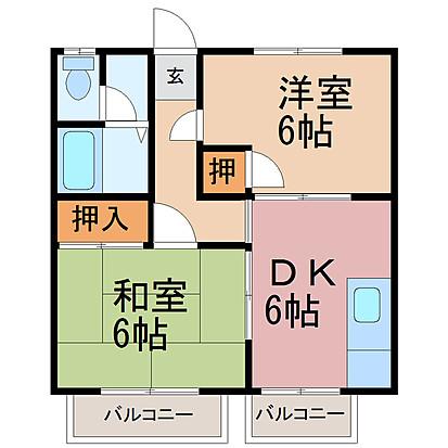 第1エステートISHII A・201号室の間取り