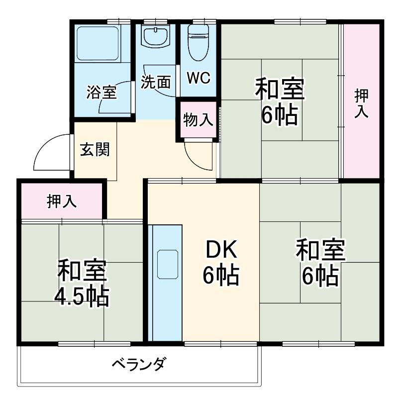 新栄団地3-8・407号室の間取り