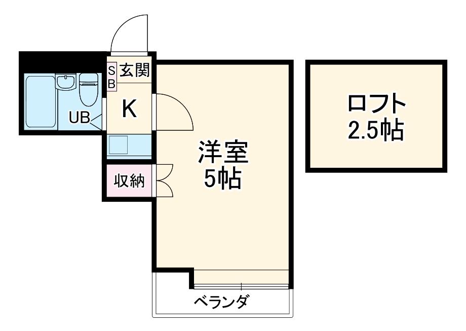 YUKIGUNI KASHIWADAI・206号室の間取り