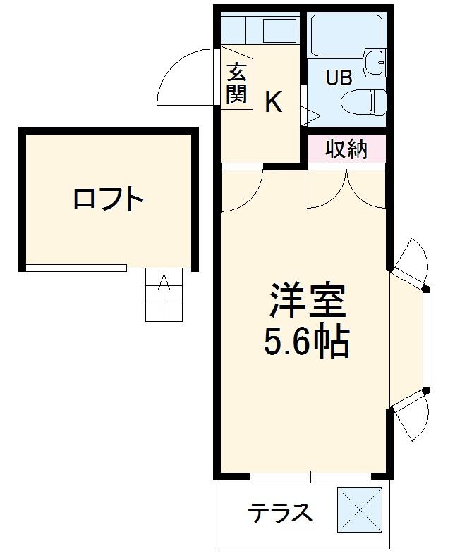 タンデム富岡・107号室の間取り