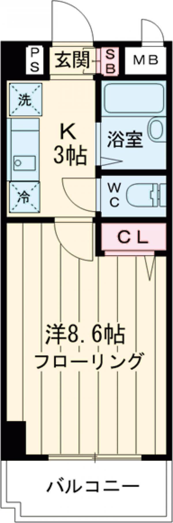 阿部松島マンション・310号室の間取り