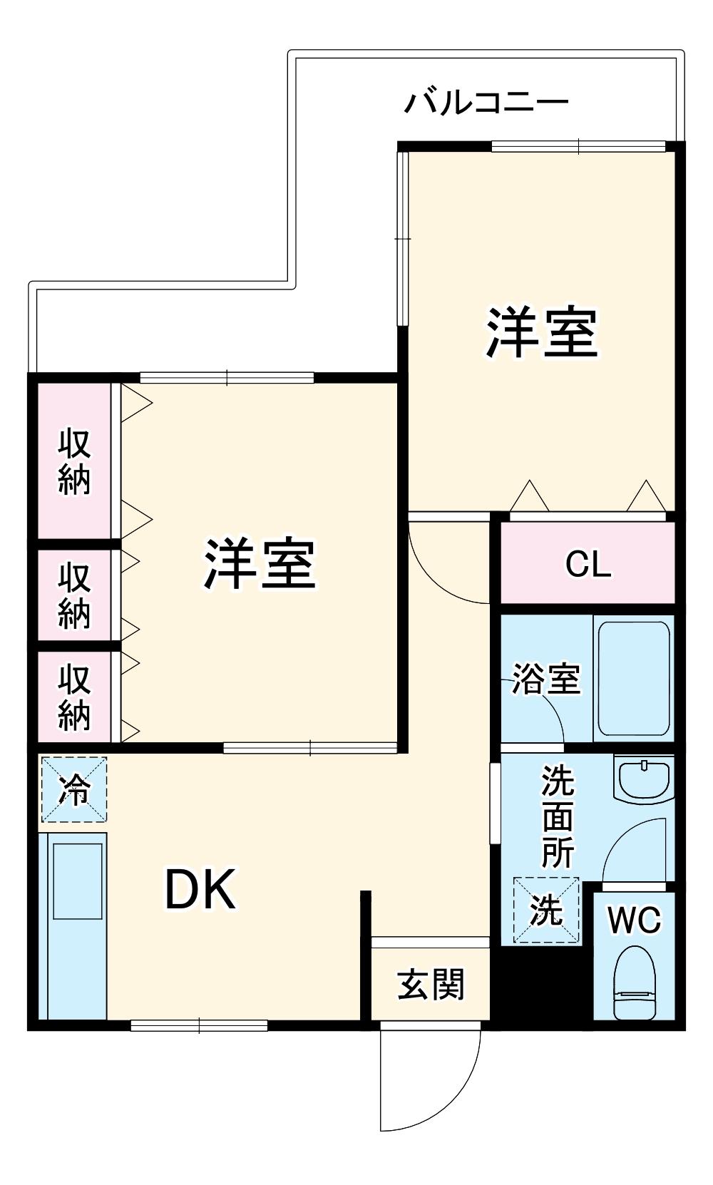 第二セーフズマンション・302号室の間取り