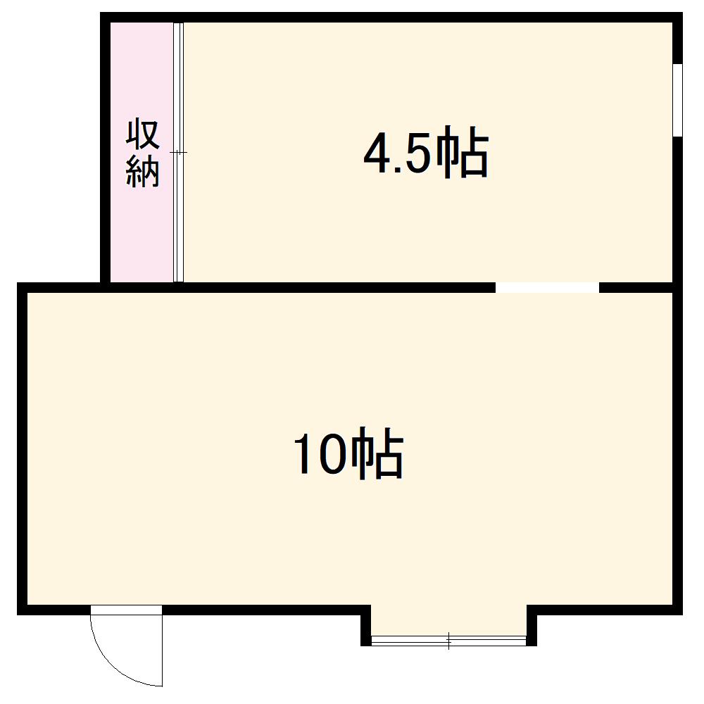 富士枝荘 1F号室の間取り