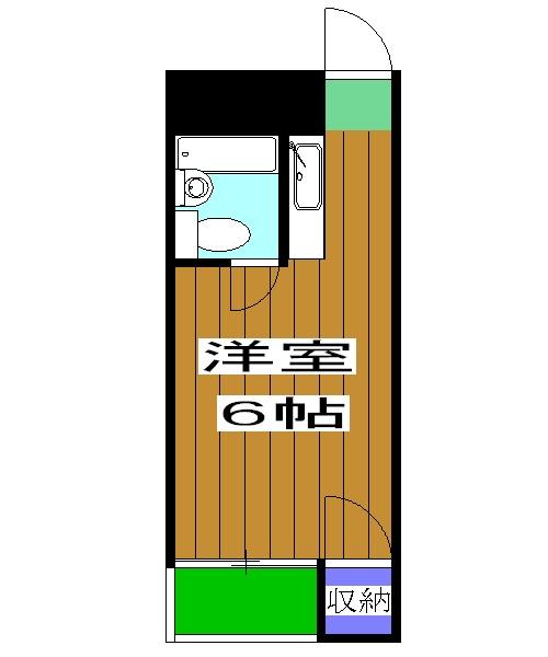 エムズ太秦・2-E号室の間取り