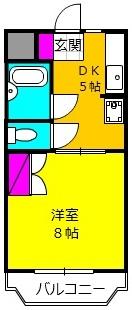 アプローズShimazu 203号室の間取り