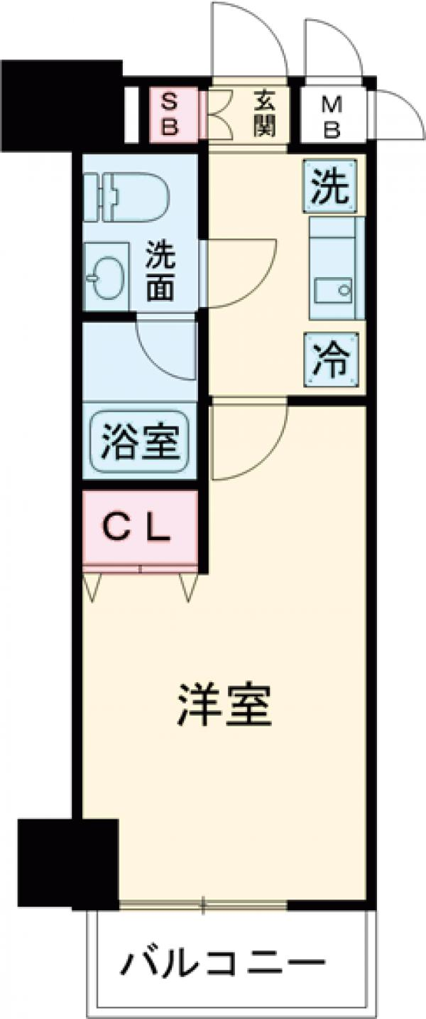 プラチナコート上野・1102号室の間取り