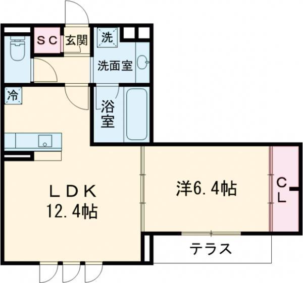 Maison桜の杜・102号室の間取り