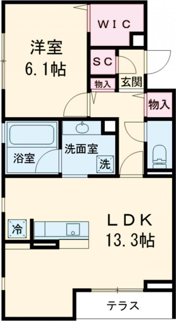 Maison桜の杜・103号室の間取り