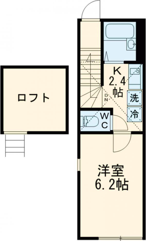 プランタン千川・201号室の間取り