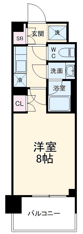 BluRock東神奈川・308号室の間取り