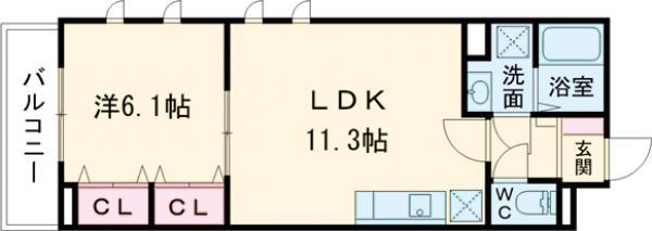 ファミーユ・04050号室の間取り