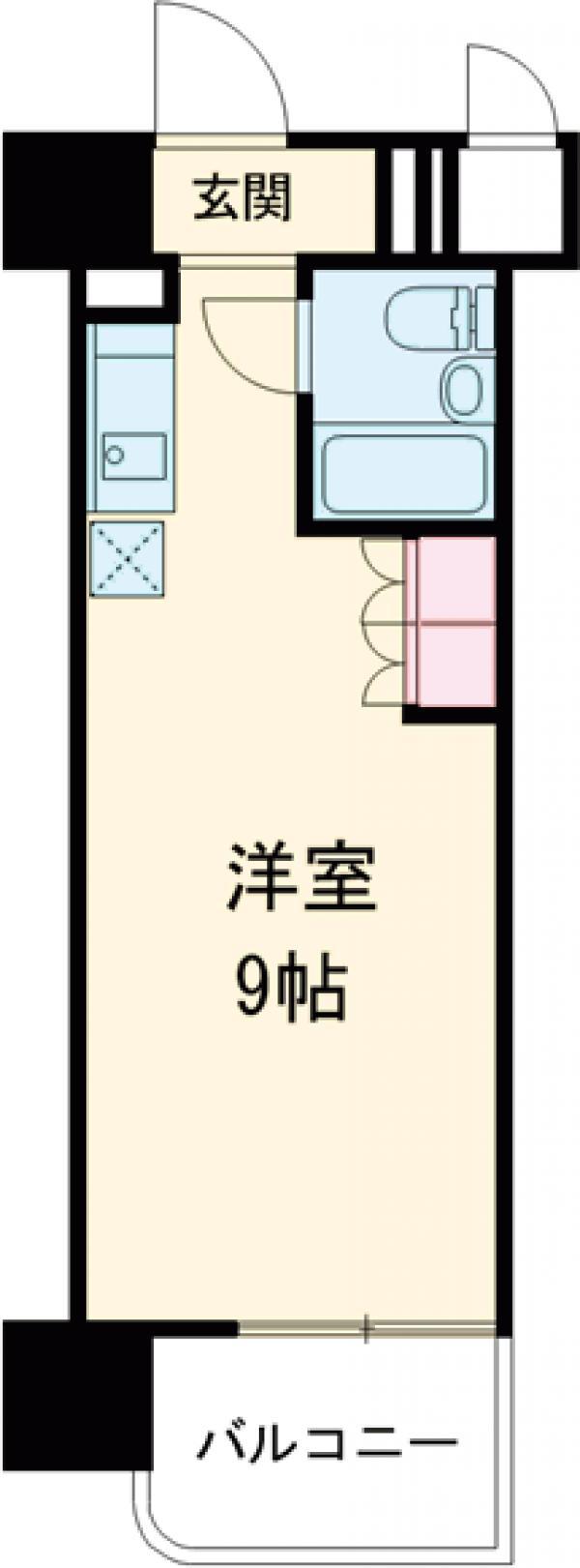 永谷ヒルプラザ六本木・516号室の間取り