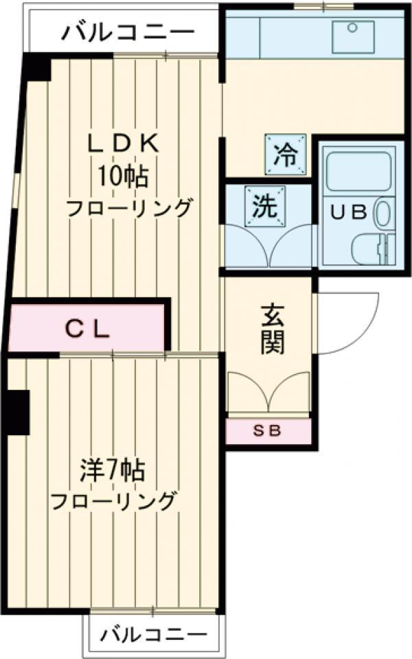 石井第一ビル 40A号室の間取り