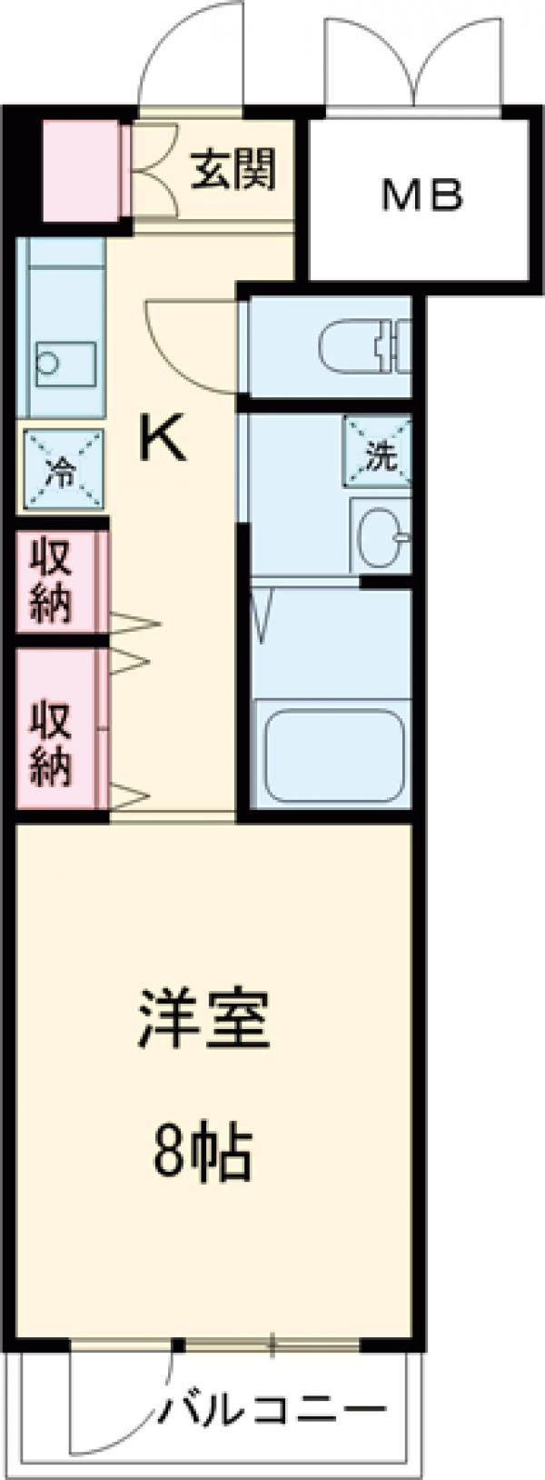 グリーンバレー唐木田 606号室の間取り