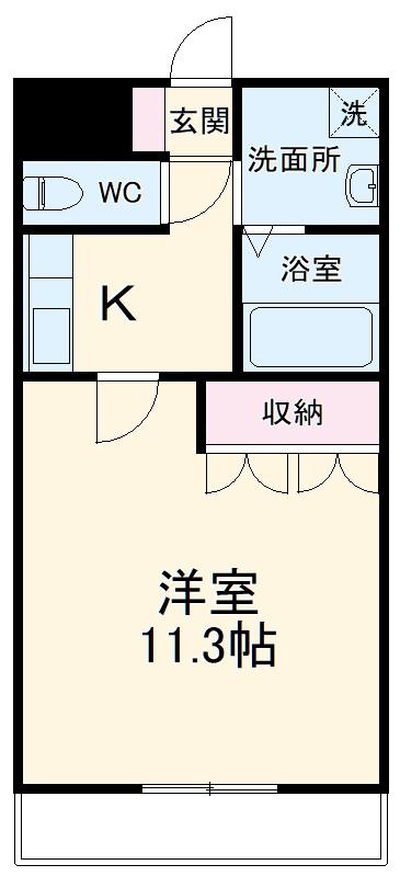 アシューレ.HK・101号室の間取り