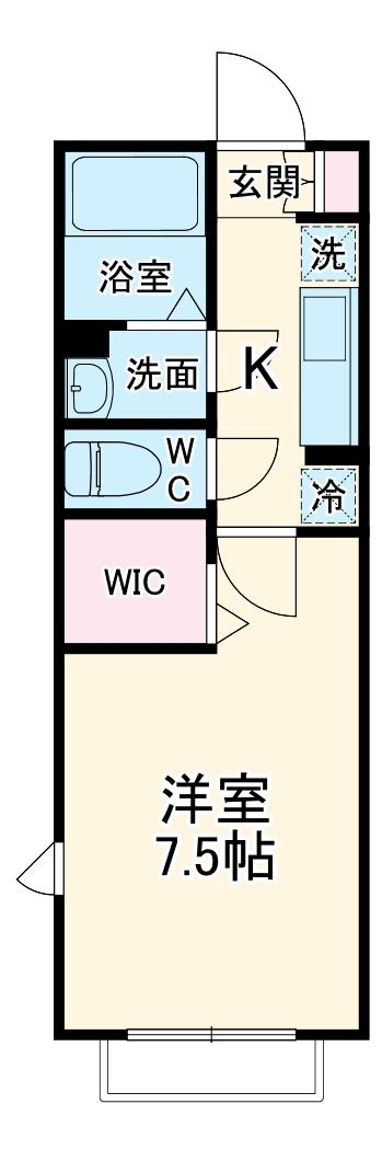 ヴィクトワール・101号室の間取り