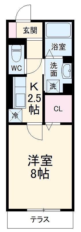 GRAND D-room豊田月見 102号室の間取り