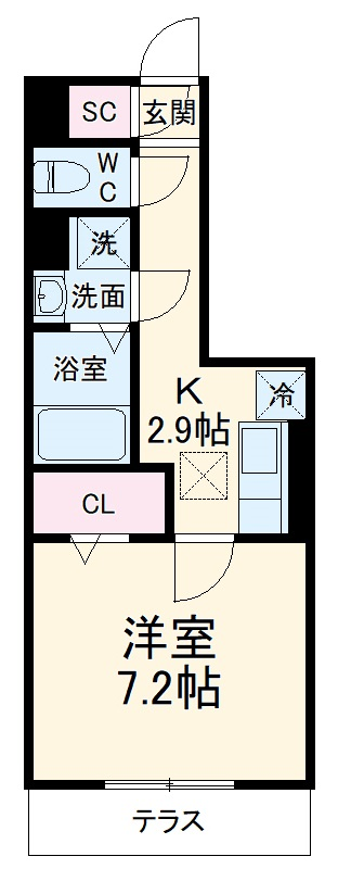 GRAND D-room豊田月見 105号室の間取り