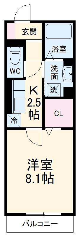 GRAND D-room豊田月見 201号室の間取り