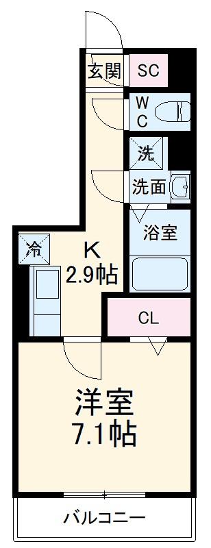 GRAND D-room豊田月見 203号室の間取り