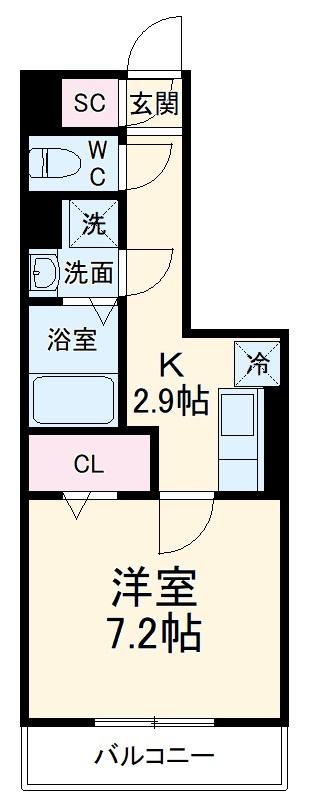 GRAND D-room豊田月見 205号室の間取り